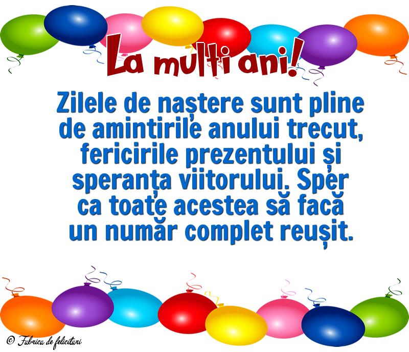 Felicitari de La multi ani - La mulți ani!