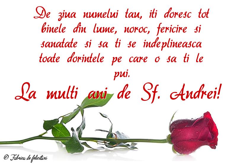 Felicitari de Sfantul Andrei - La mulți ani de Sf. Andrei!