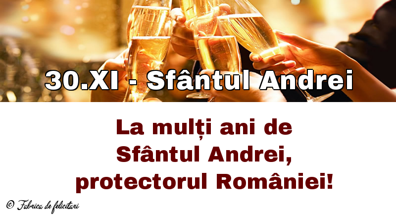 Felicitari de Sfantul Andrei - 30.XI - Sfântul Andrei