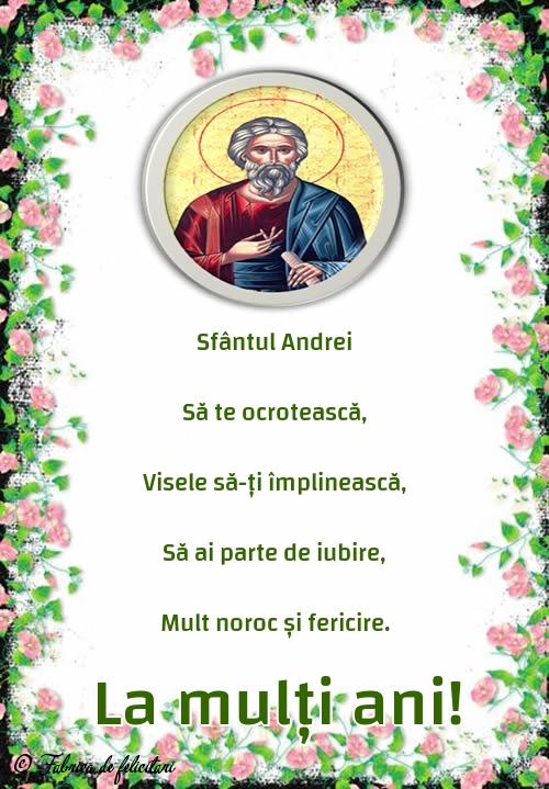 Felicitari de Sfantul Andrei - La mulți ani!