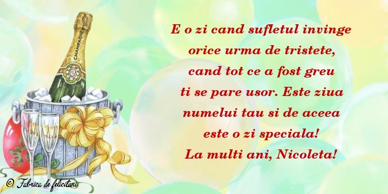 Felicitari de Sfantul Nicolae - La mulți ani, Nicoleta!