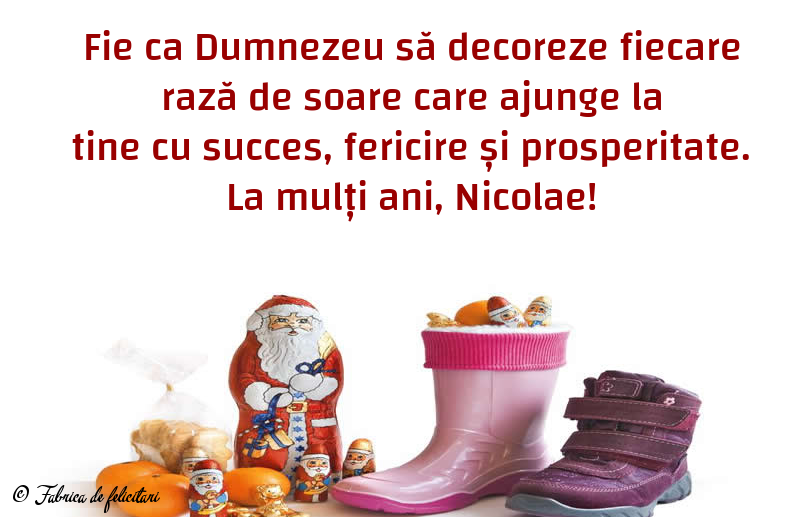 Felicitari de Sfantul Nicolae - La mulți ani, Nicolae!