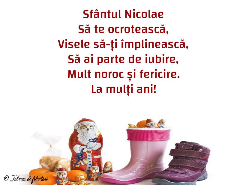 Felicitari de Sfantul Nicolae - La mulți ani!