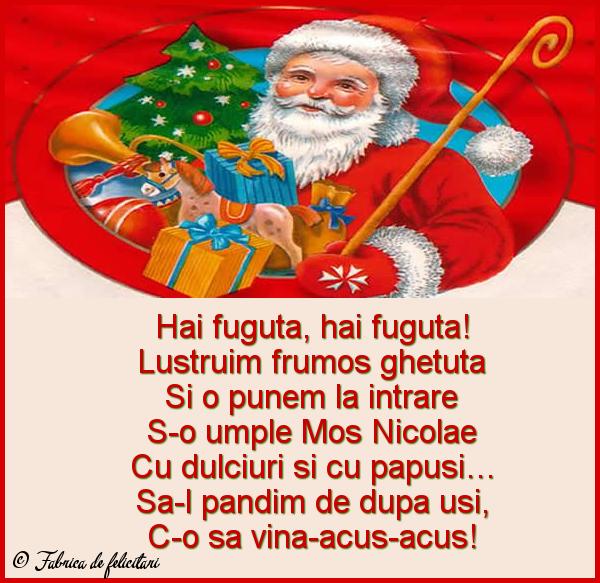 Felicitari de Sfantul Nicolae - Hai fuguta, hai fuguta!