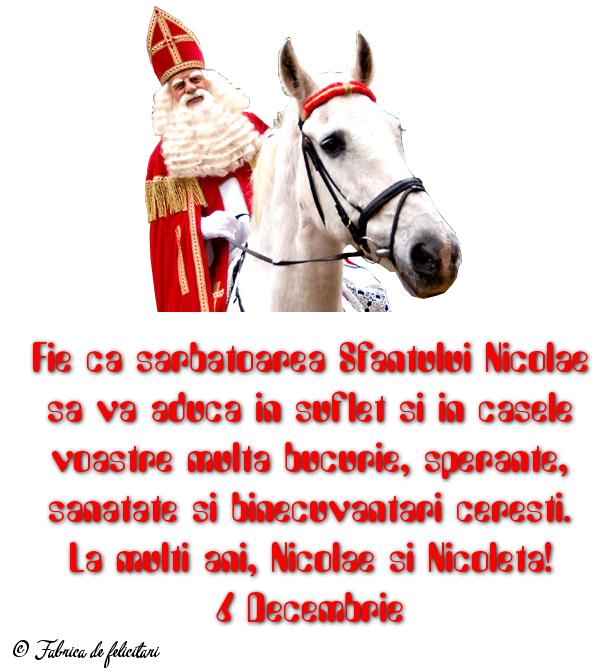 Felicitari de Sfantul Nicolae - 6 Decembrie