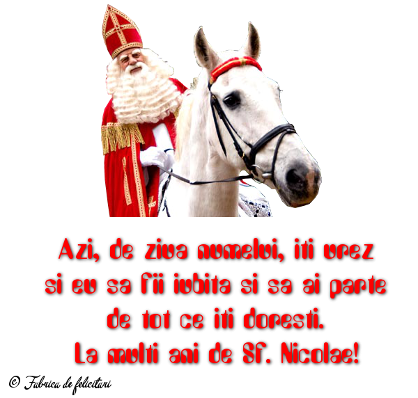 Felicitari de Sfantul Nicolae - La multi ani de Sf. Nicolae!