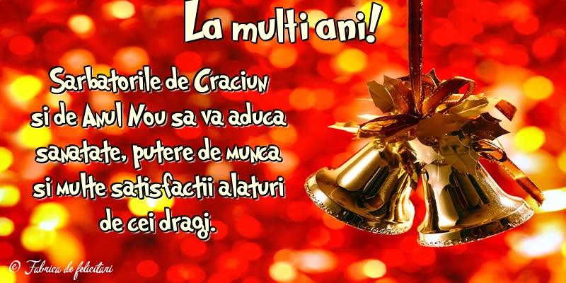 Felicitari de Craciun - La mulţi ani!