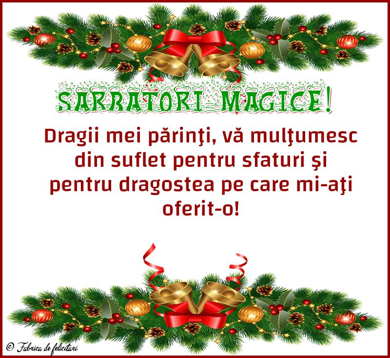 Felicitari de Craciun - Sărbători magice!