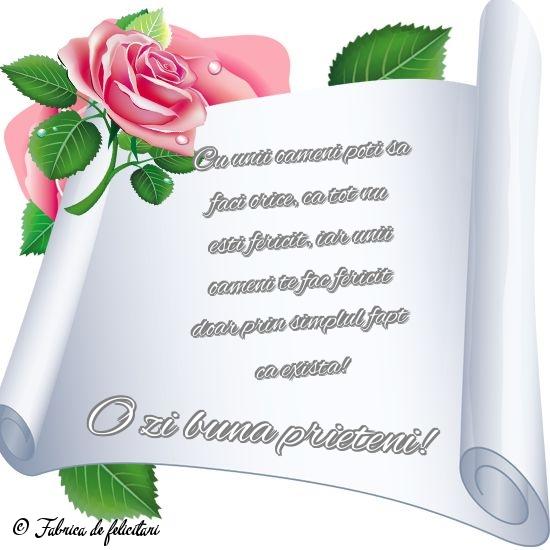 Felicitari de Amiaza - O zi bună prieteni!