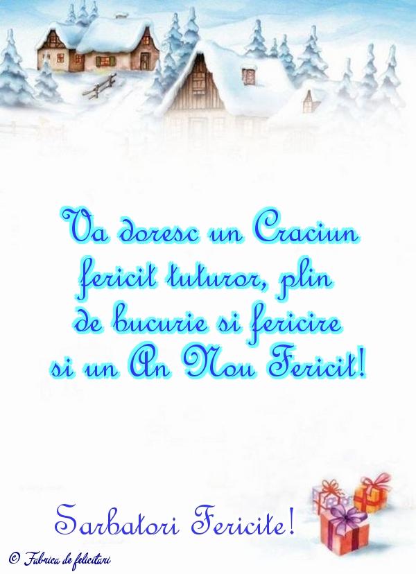 Felicitari de Craciun - Sarbatori Fericite!