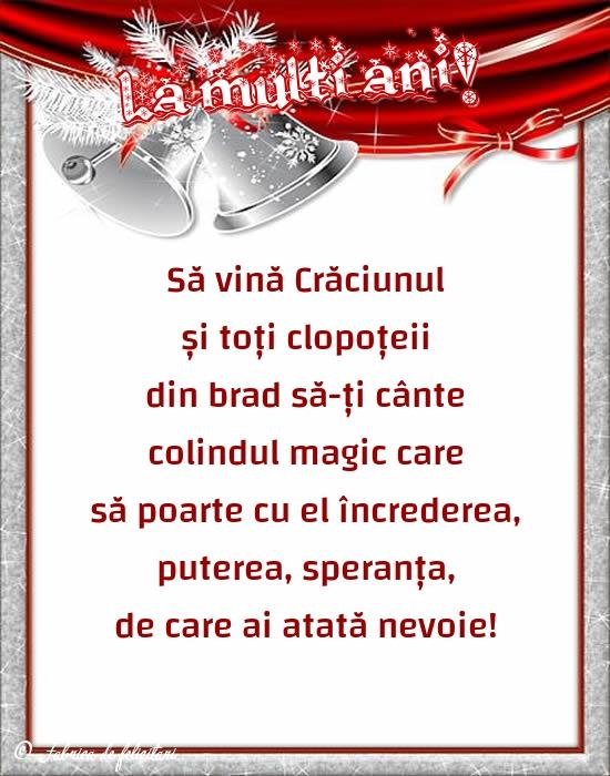 Felicitari de Craciun - La mulți ani!
