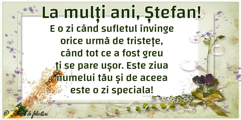 Felicitari de Sfantul Stefan - La mulți ani, Ștefan!