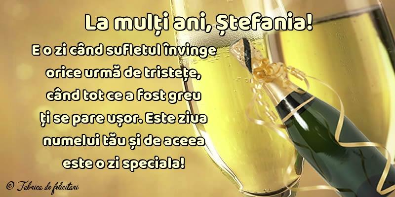 Felicitari de Sfantul Stefan - La mulți ani, Ștefania!
