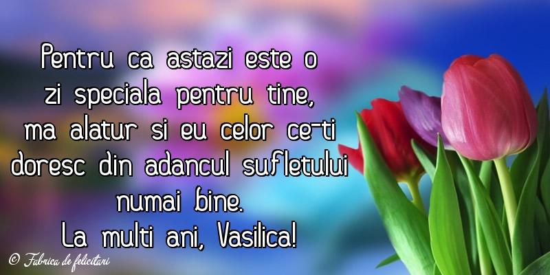 Felicitari de Sfantul Vasile - La multi ani, Vasilica!