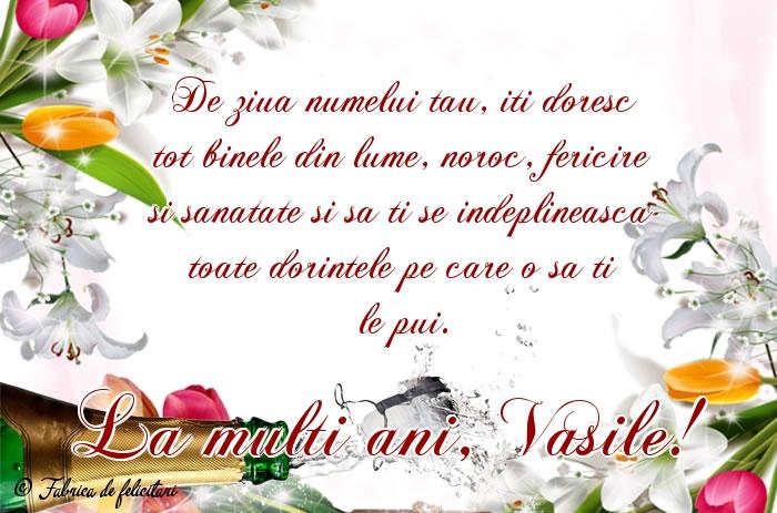 Felicitari de Sfantul Vasile - La multi ani, Vasile!