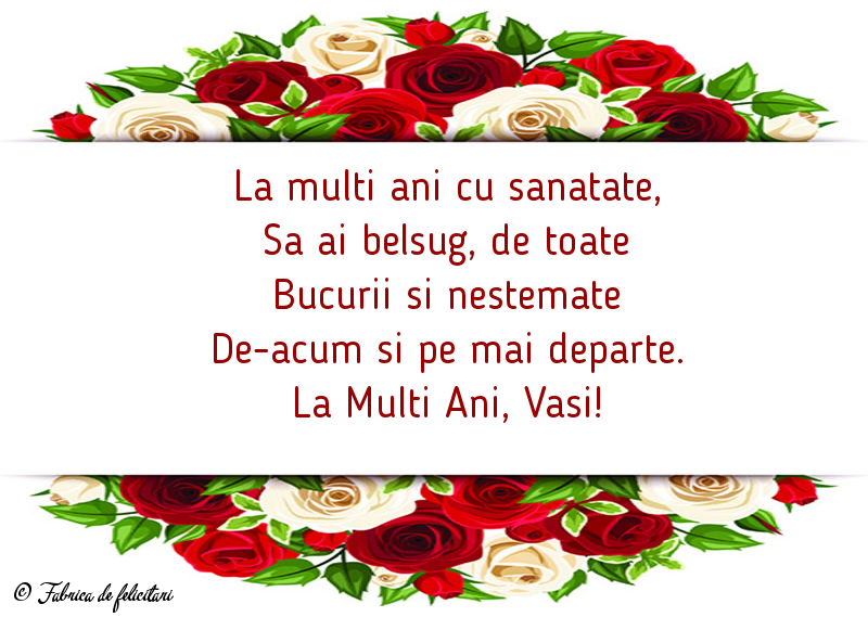 Felicitari de Sfantul Vasile - La Multi Ani, Vasi!