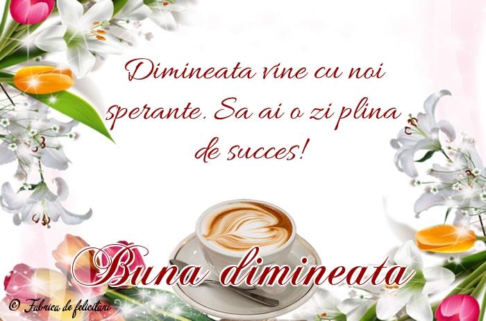 Felicitari de Dimineata - Bună dimineața