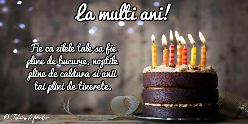 Felicitari de La multi ani - La mulţi ani!