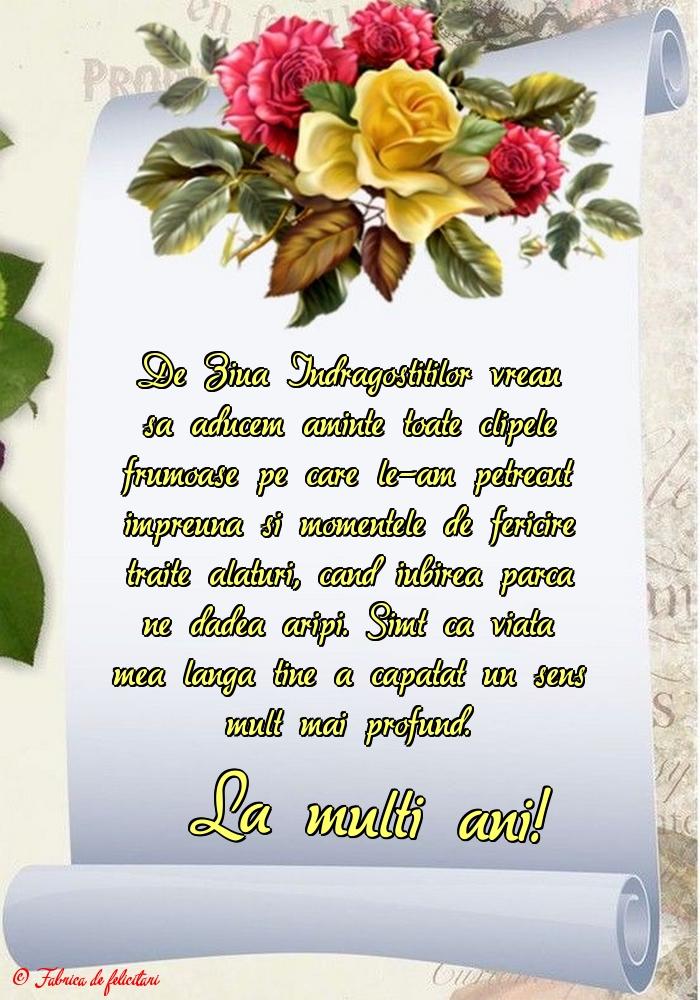 Felicitari de Ziua Indragostitilor - La mulți ani!
