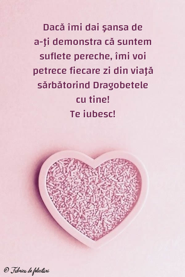 Felicitari de Dragobete - Te iubesc!