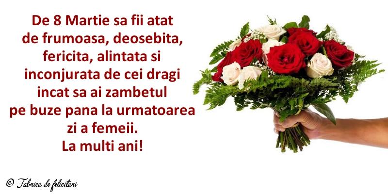 Felicitari de 8 Martie - La mulți ani!