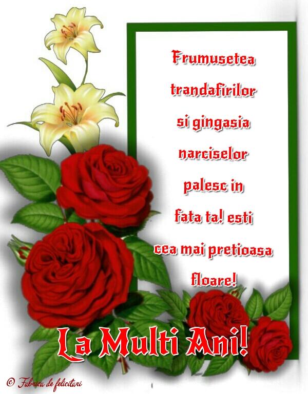 Felicitari de Florii - La Mulți Ani!