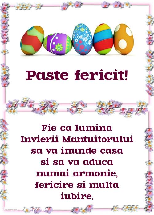Felicitari de Paste - Paşte fericit!