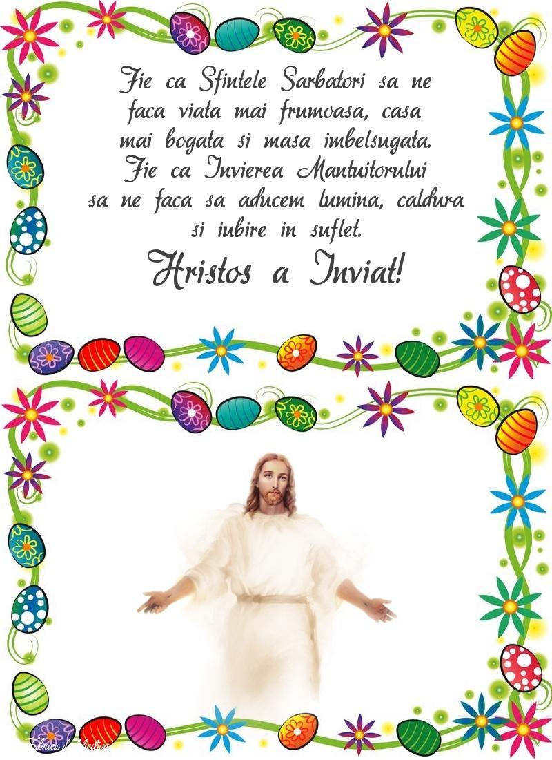 Felicitari de Paste - Hristos a Înviat!