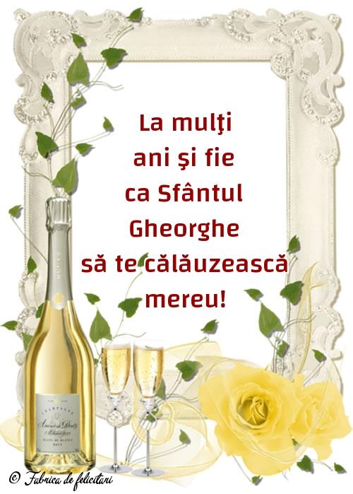 Felicitări de Sfântul Gheorghe