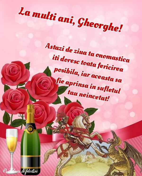 Felicitări de Sfântul Gheorghe - La mulţi ani, Gheorghe!