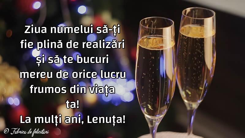 Felicitări de sfintii Constantin si Elena - La mulți ani, Lenuța!