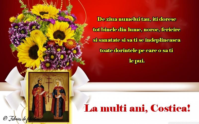 Felicitări de sfintii Constantin si Elena - La multi ani, Costica!