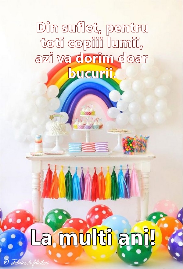 Felicitari de 1 Iunie - La mulţi ani!