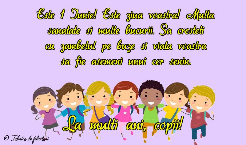 Felicitari de 1 Iunie - La mulţi ani, copii!