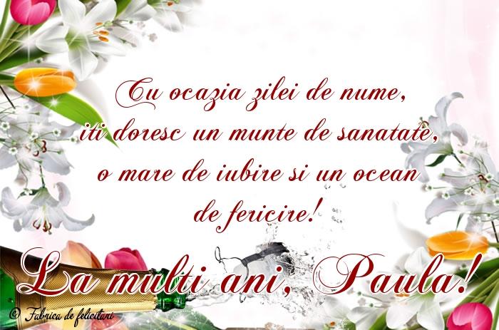 Felicitări de sfintii Petru si Pavel - La mulți ani, Paula!