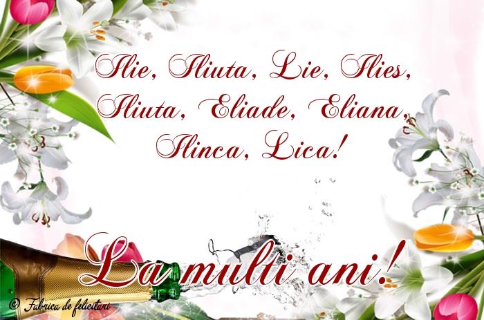 Felicitări de Sfantul Ilie - La mulți ani!