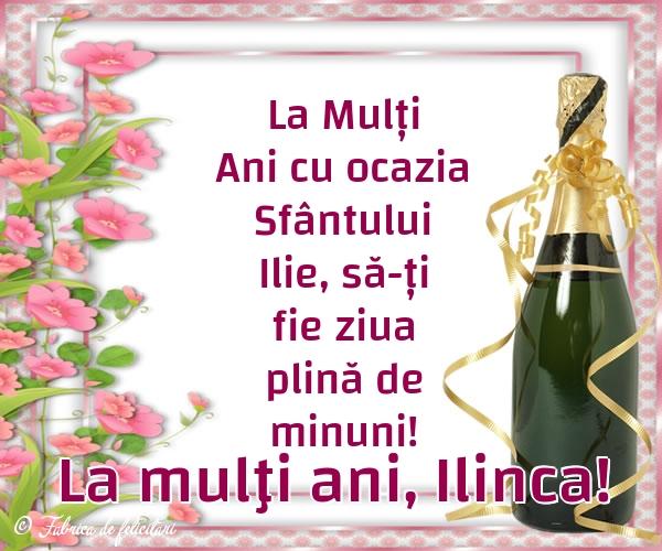 Felicitări de Sfantul Ilie - La mulţi ani, Ilinca!