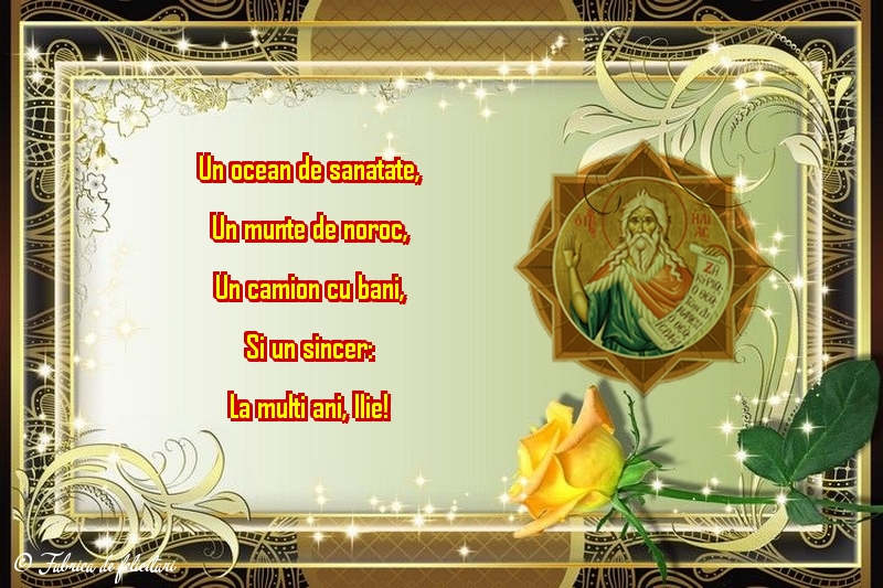 Felicitări de Sfantul Ilie