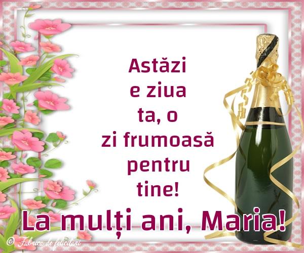 Felicitari de Sfanta Maria - La mulți ani, Maria!