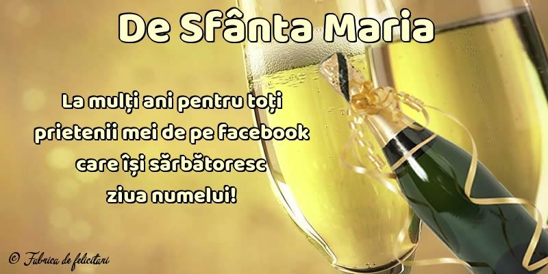 Felicitari de Sfanta Maria - De Sfânta Maria