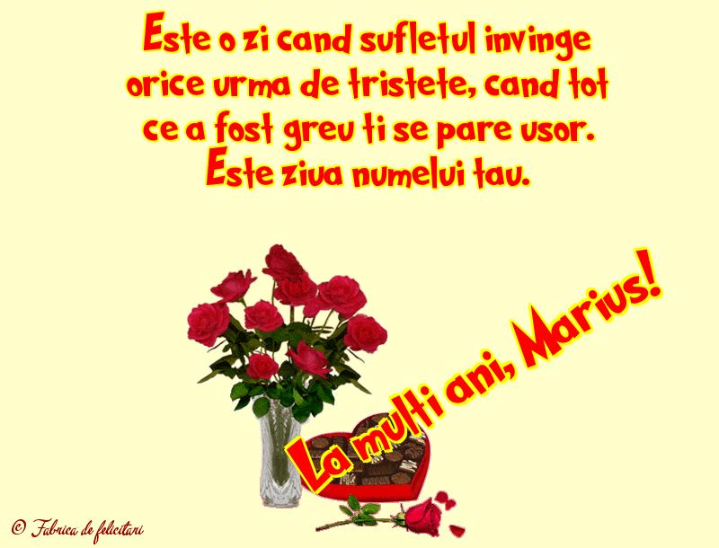 Felicitari de Sfanta Maria - La mulţi ani, Marius!