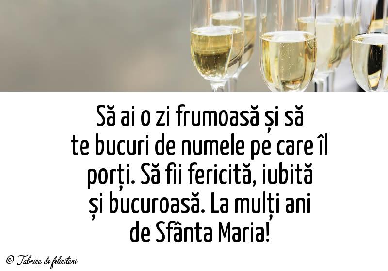 Felicitari de Sfanta Maria