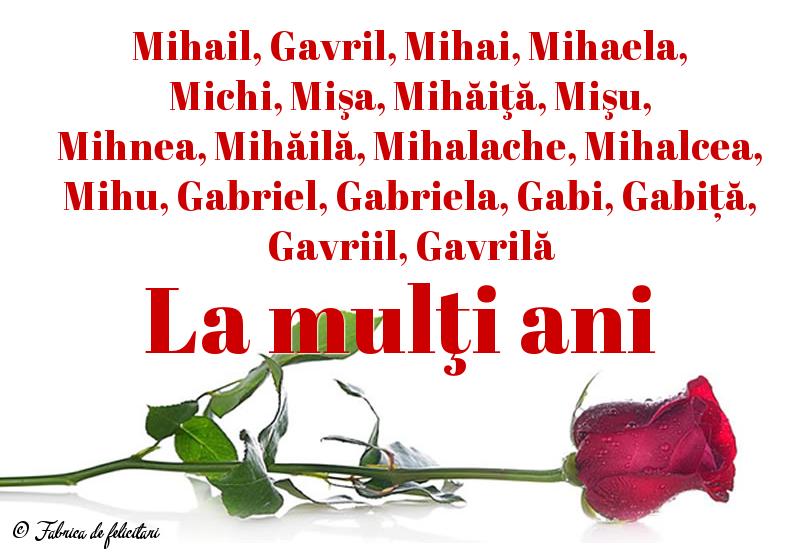 Felicitari de Sfintii Mihail si Gavril - La mulţi ani