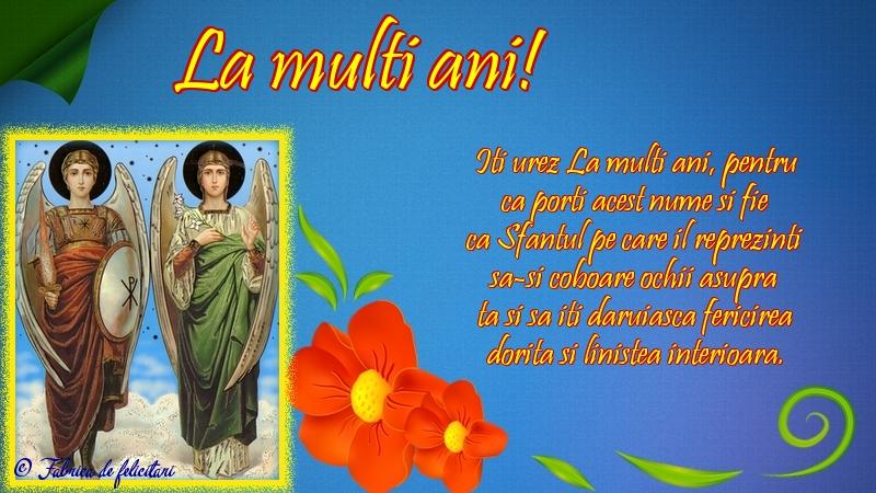 Felicitari de Sfintii Mihail si Gavril - La mulți ani!