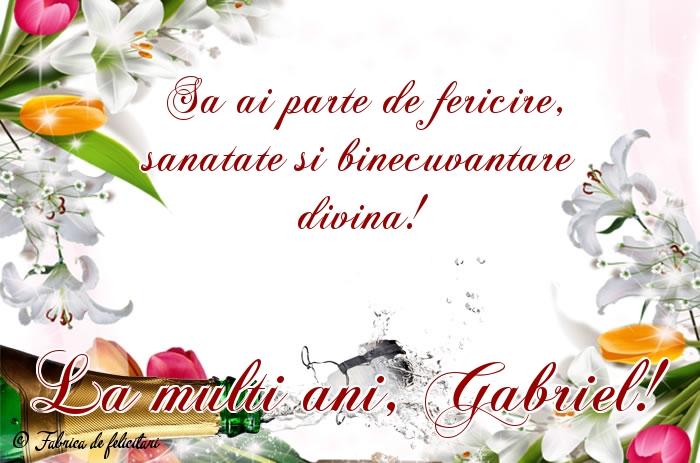 Felicitari de Sfintii Mihail si Gavril - La mulţi ani, Gabriel!