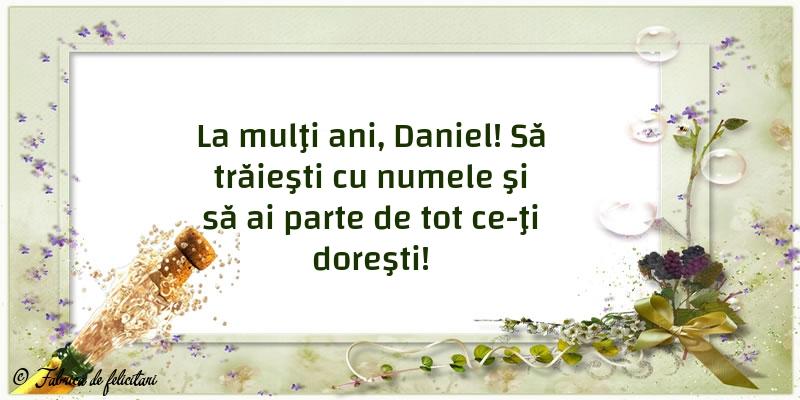 Felicitari de Sfantul Daniel