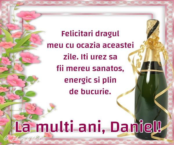 Felicitari de Sfantul Daniel - La multi ani, Daniel!