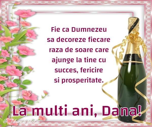 Felicitari de Sfantul Daniel - La multi ani, Dana!