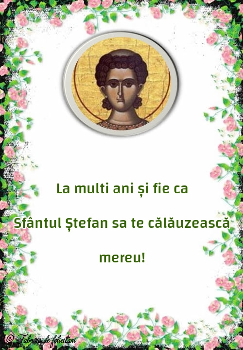 Felicitari de Sfantul Stefan