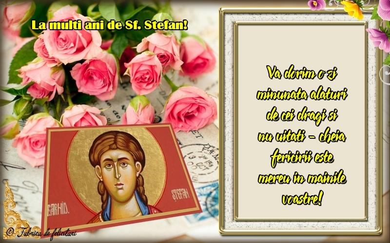 Felicitari de Sfantul Stefan - La mulți ani de Sf. Ștefan!